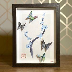 Original Handfolded Origami Cherry Blossom Artwork